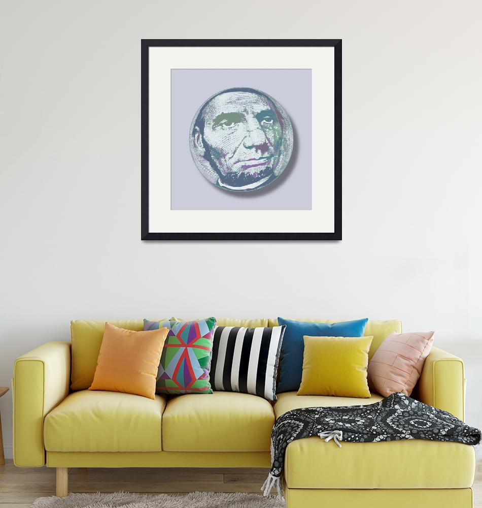 """""""Abraham Lincoln Orb""""  (2018) by RubinoFineArt"""