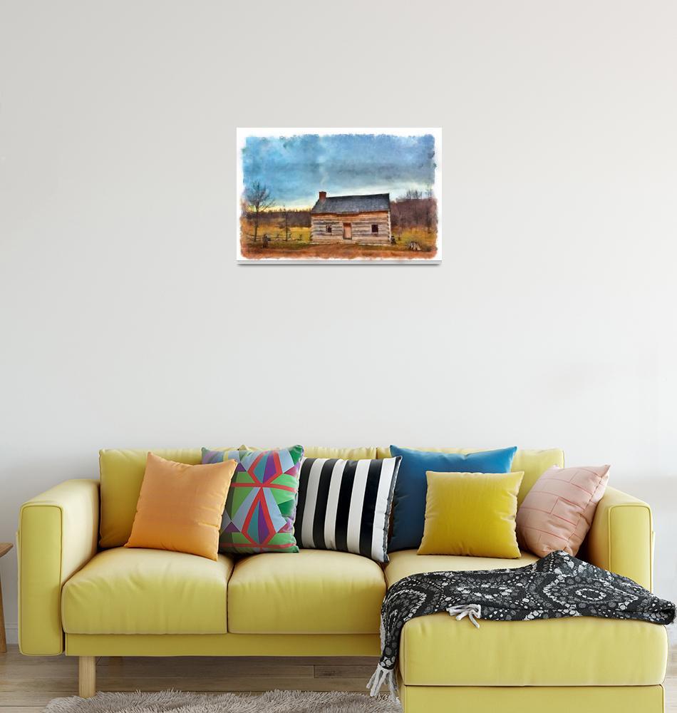"""""""Joseph Smith Log Home""""  (2010) by dbwalton"""