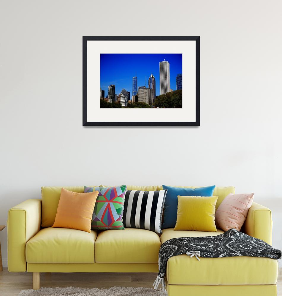 """Chicago Skyline 2010 #7""  (2010) by Ffooter"