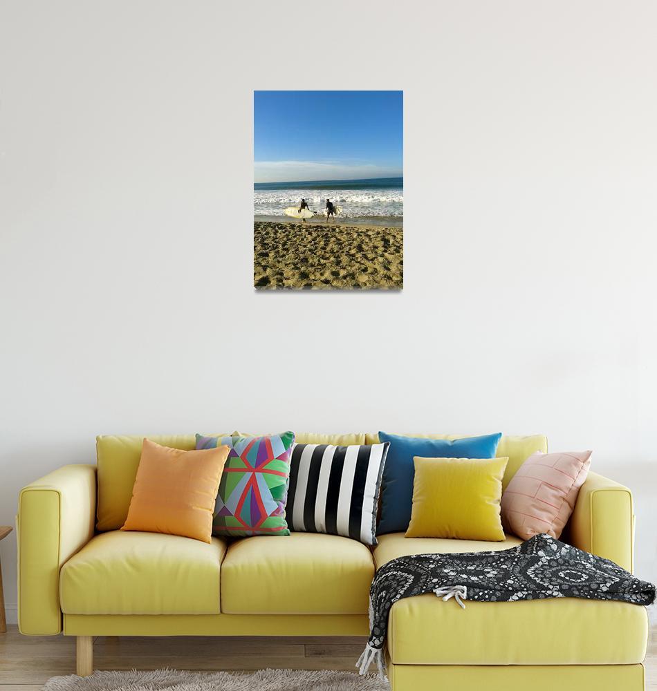 """Santa Monica Surfers""  (2014) by chandahopkins"