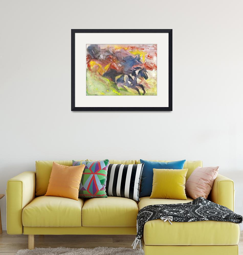 """""""Abstract Herd""""  by EquineArtTreasures"""