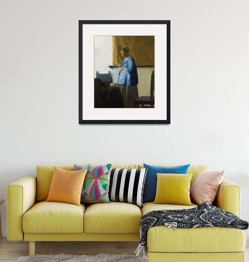 """""""Woman Reading a Letter by Johannes Vermeer""""  by FineArtClassics"""