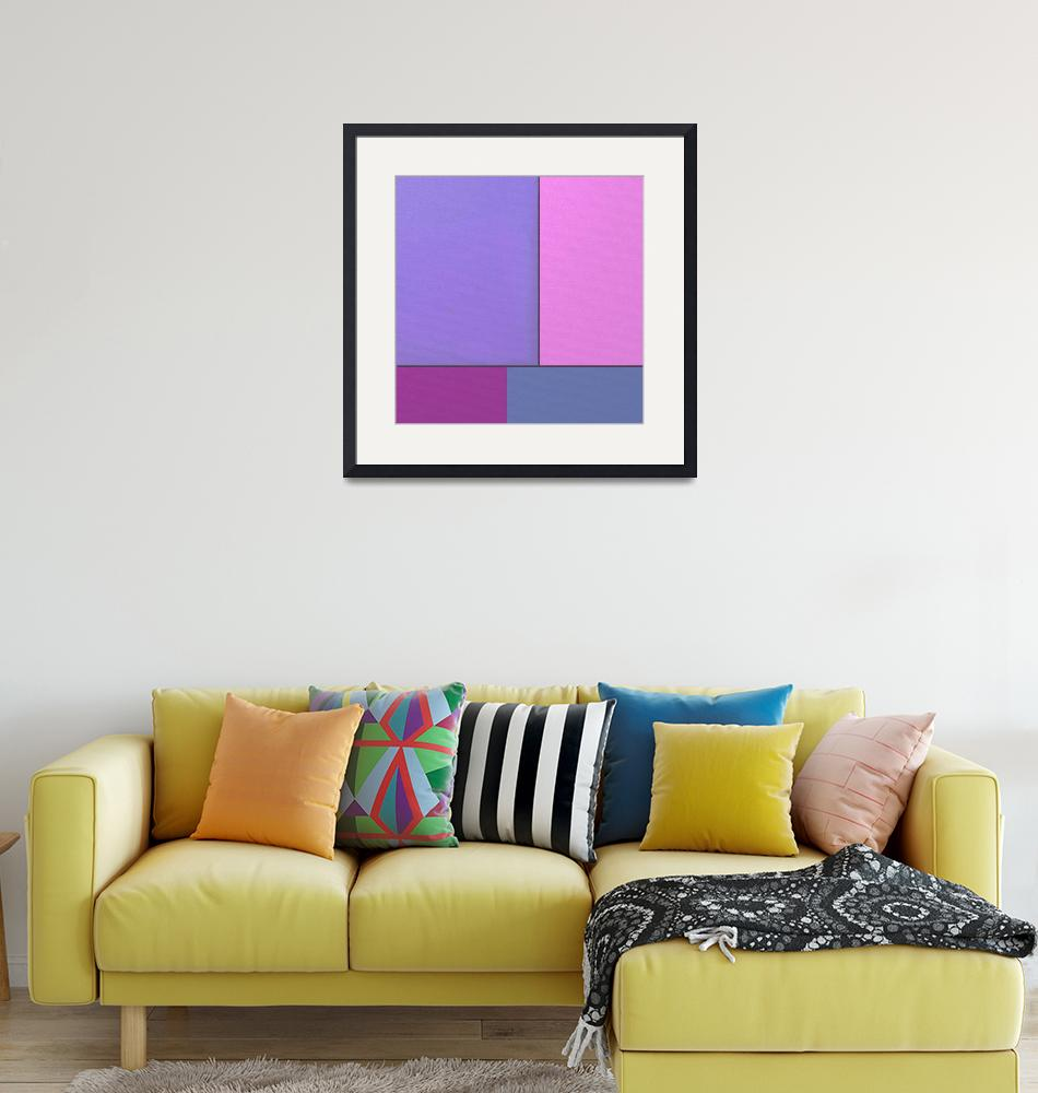 """""""Abstract Art Modern Geometric Color Fields Retro""""  by masterpiecesofart"""