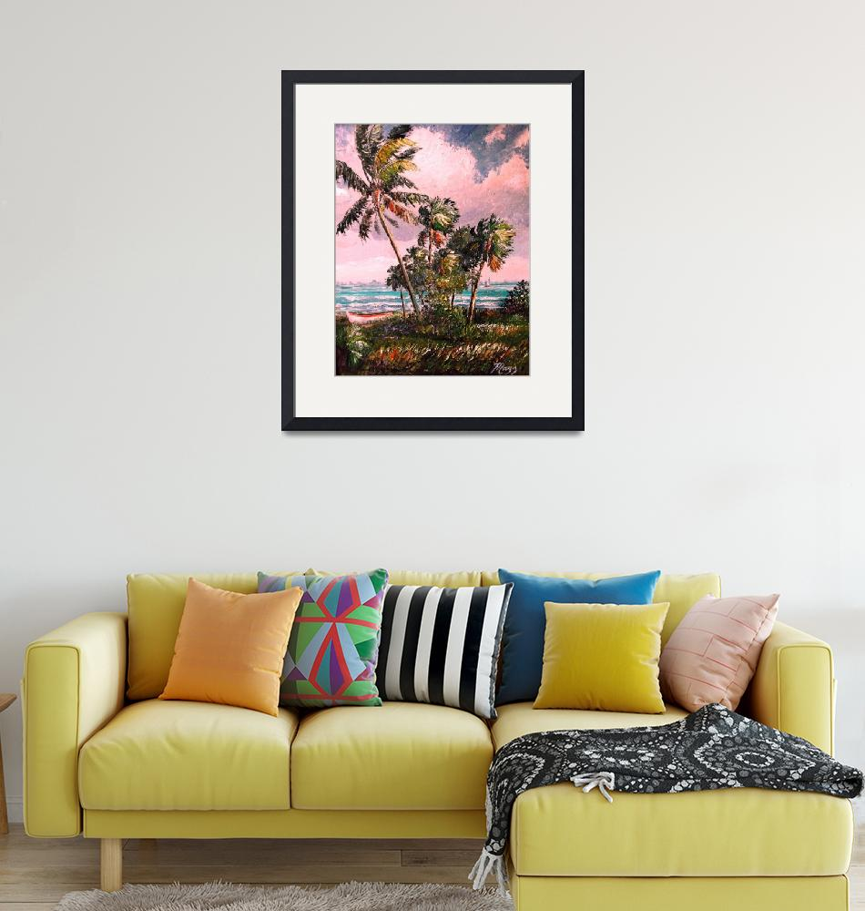 """""""Windy Palm Trees Along Indian River Lagoon""""  (2018) by mazz"""