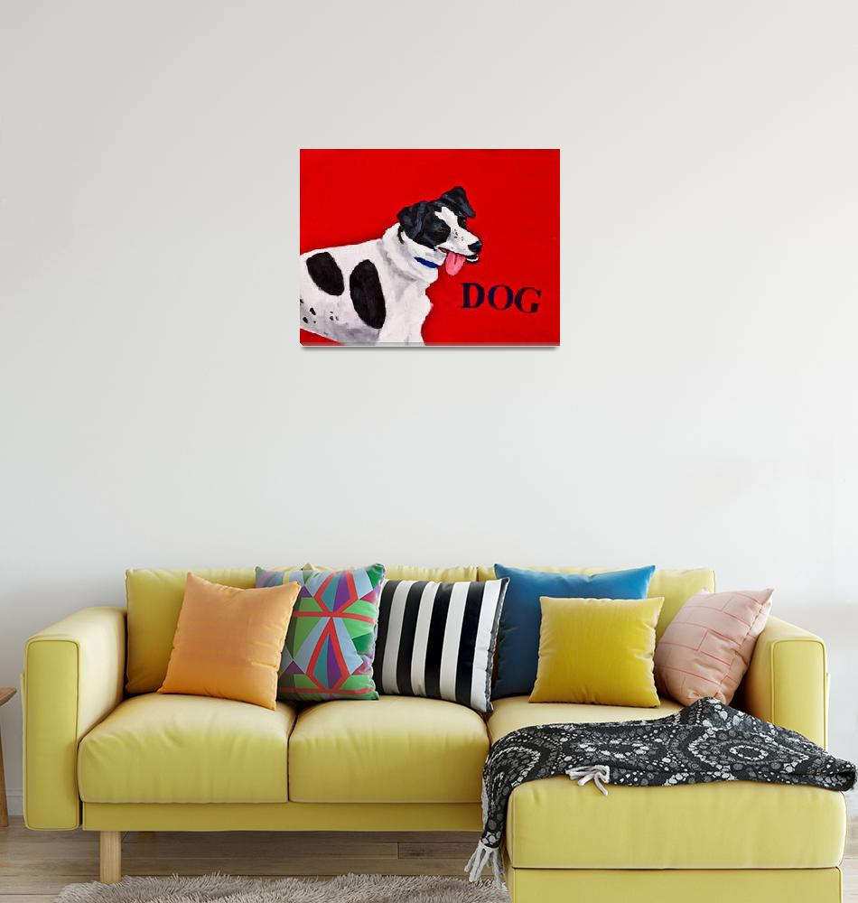 """Charlie the Dog""  (2010) by KateLaufert"