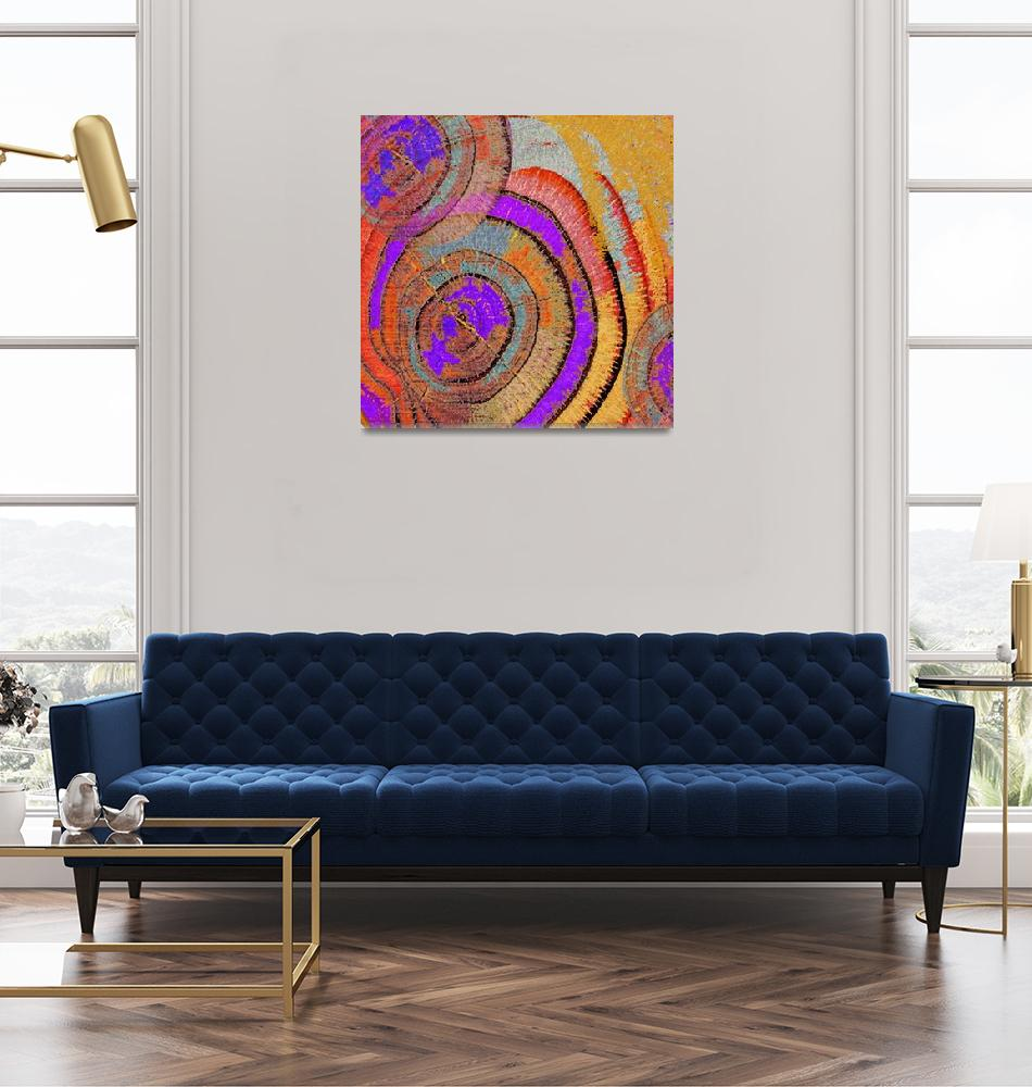 """""""Tree Ring Abstract""""  (2018) by RubinoFineArt"""