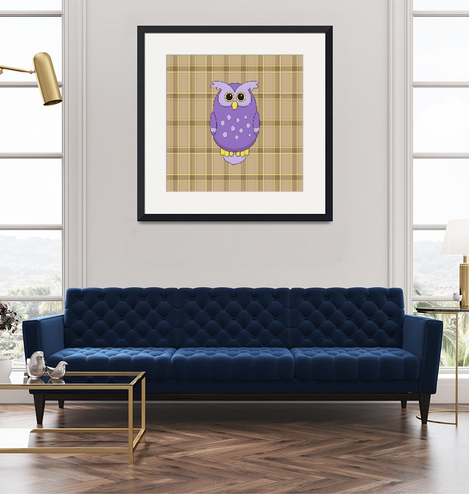 """""""Owl in Purple""""  (2013) by InkFish"""