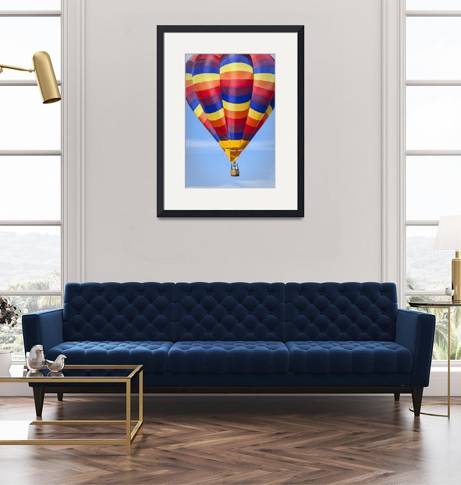 """Hot Air Balloon with Radiant Colors""  (2013) by lillisphotography"