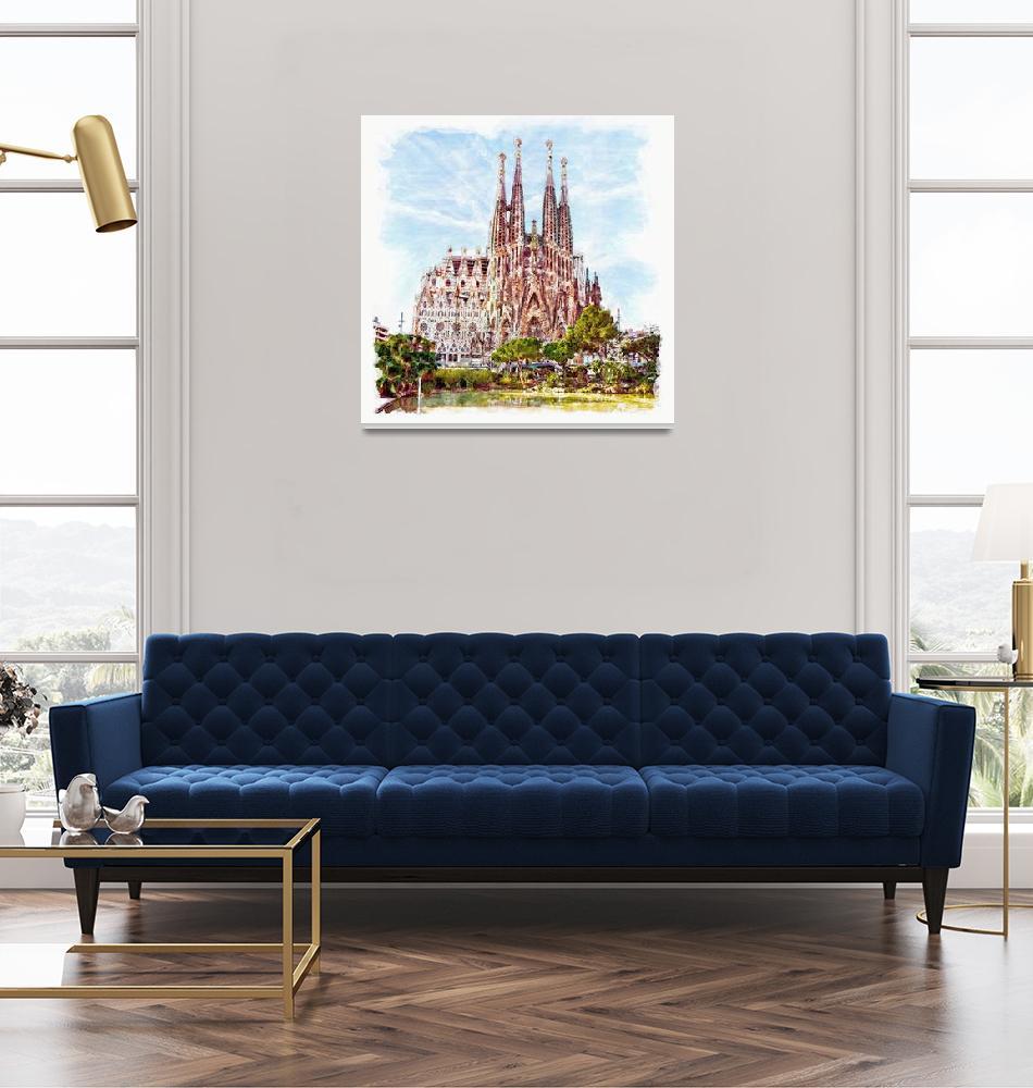 """La Sagrada Familia""  (2014) by MarianVoicu"