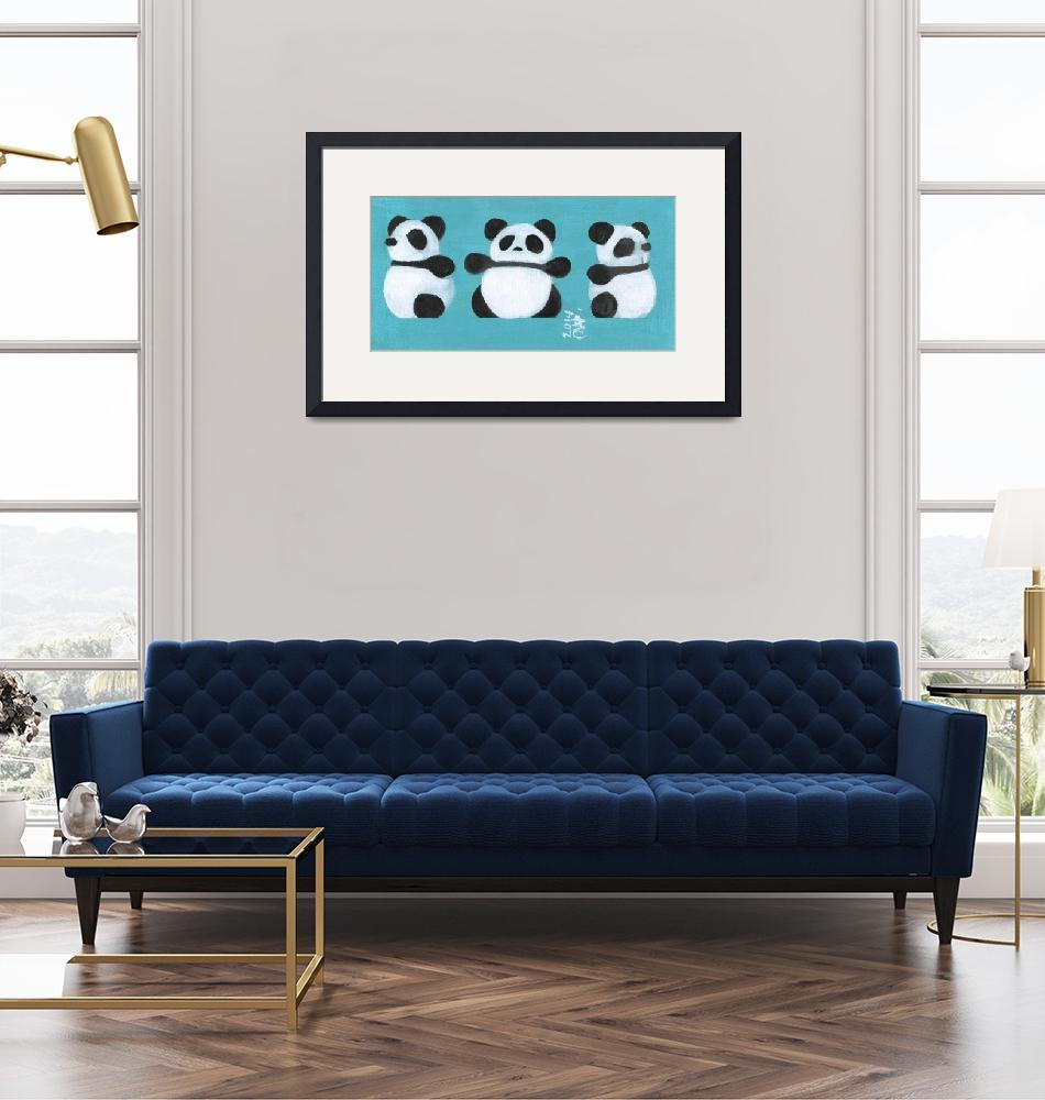 """""""3 Sides of Panda""""  (2014) by artchiz"""