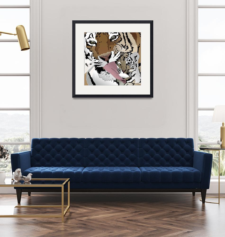 """""""The Tiger Licking Option""""  (2011) by binary-options"""
