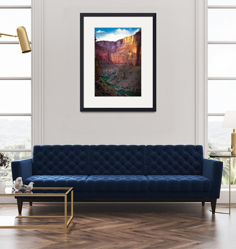 """""""Marble Canyon Cliffs""""  (2007) by Inge-Johnsson"""
