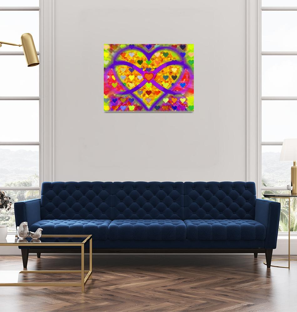 """Infinity Love Heart Gold""  by RubinoFineArt"