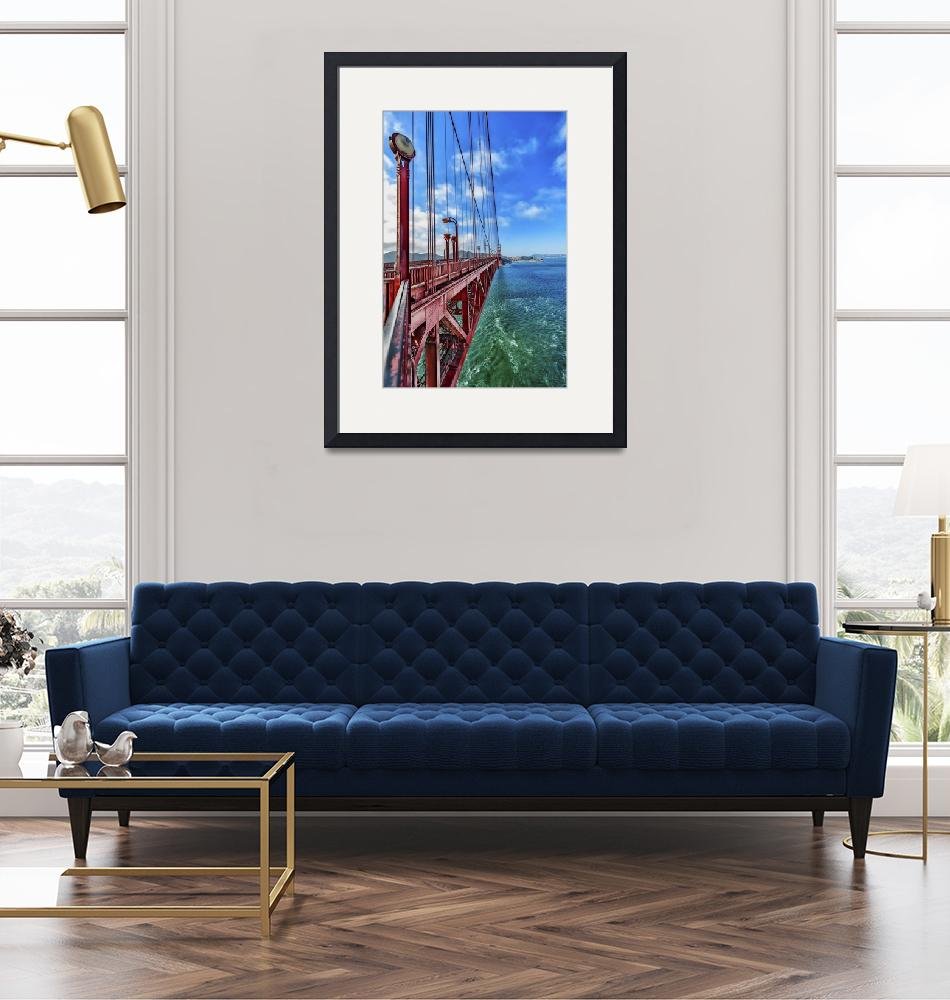"""""""On the Edge of the Golden Gate Bridge""""  (2014) by New-Yorkled"""