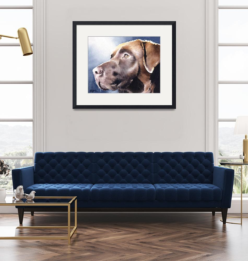 """Chocolate Lab""  (2017) by k9artgallery"