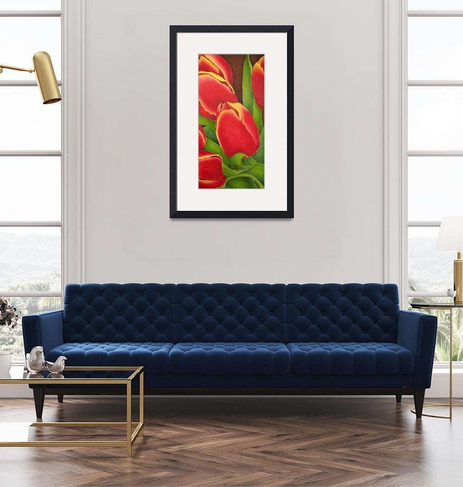 """""""Red Tulips""""  (2004) by terrimeyers"""