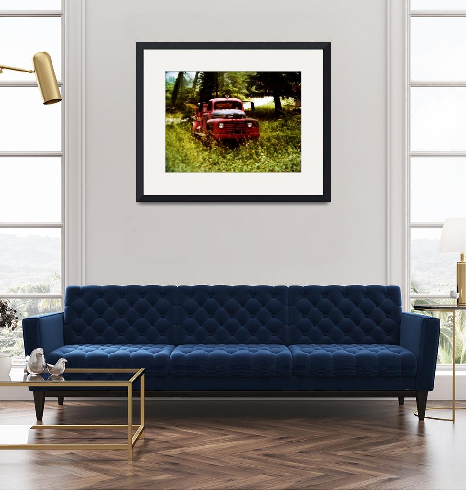 """""""Old Red the Firetruck"""" (1985) by PhotoArtbyAnjanette"""