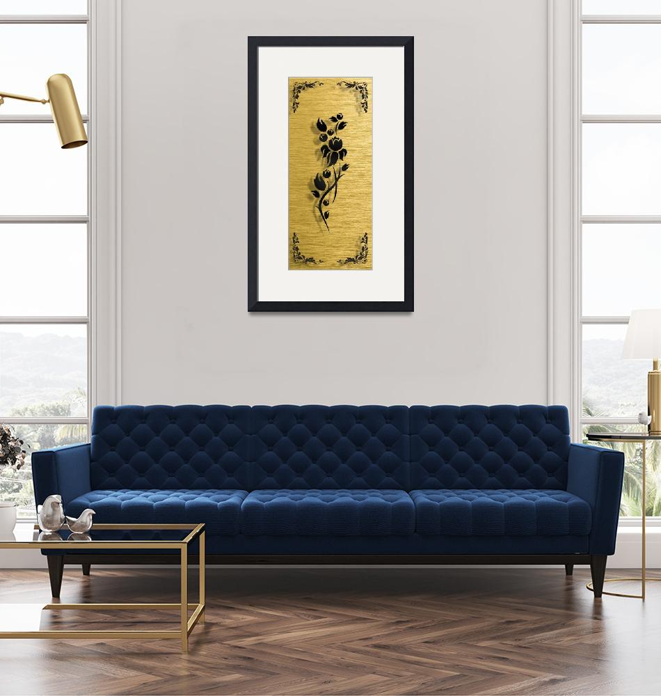 """""""Gold illustration for interior 5""""  (2019) by Radiant"""