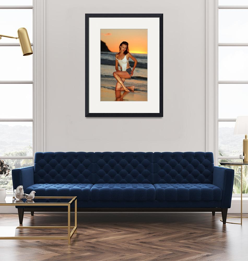 """""""Model posing sexy at Golden Sunset in California""""  (2004) by AntonOparin"""
