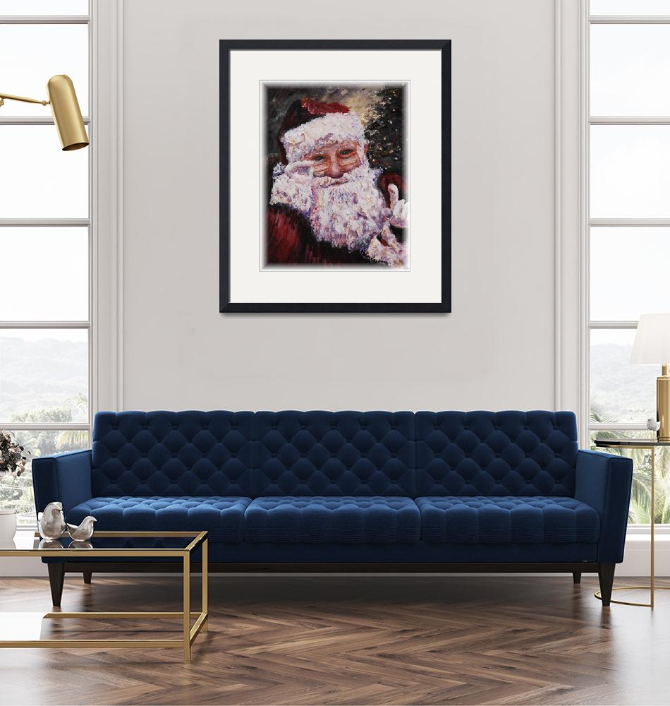 """Santa Chat"" (2007) by nadinerippelmeyer"