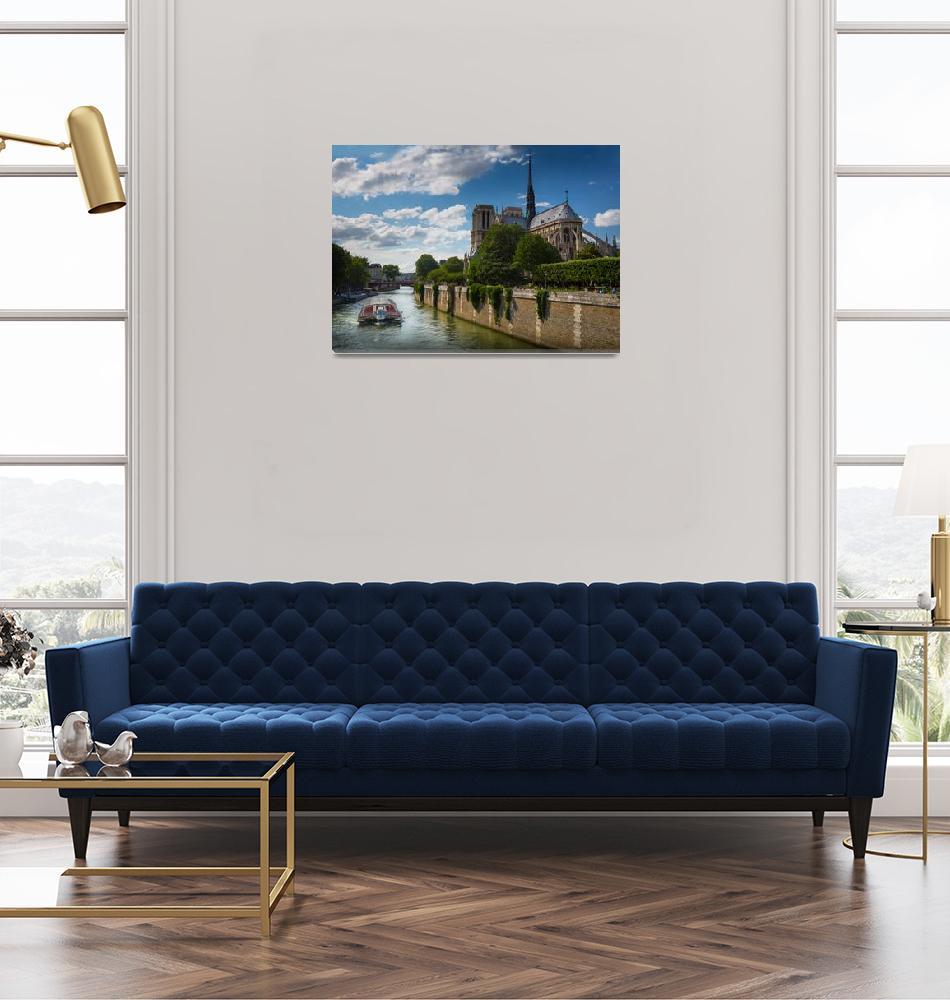 """Notre Dame and La Seine""  (2012) by Inge-Johnsson"