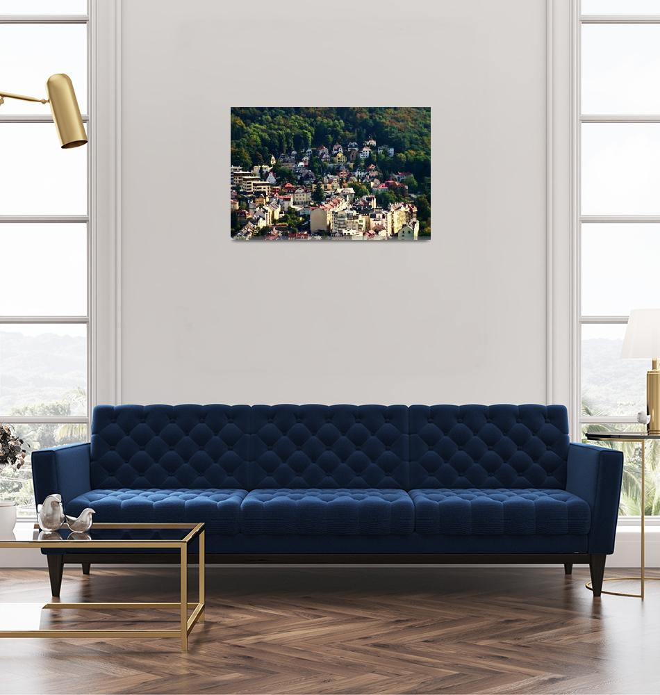 """""""A View Of Karlovy Vary Art Nouvearu Buildings""""  (2009) by picturesbybgale"""