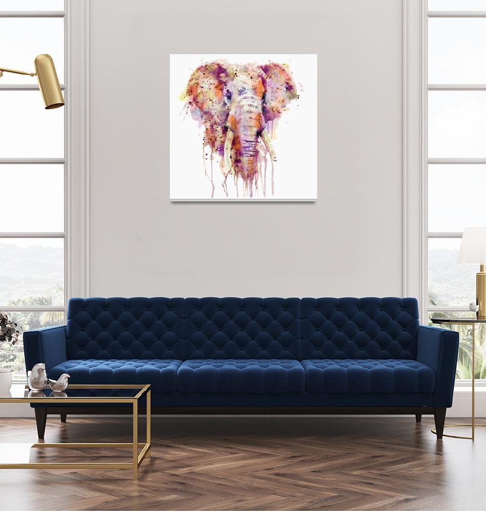 """Elephant Waterclor""  (2015) by MarianVoicu"