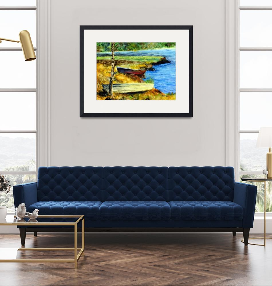 """""""Resting Boats""""  (2010) by HaileyWatermedia"""