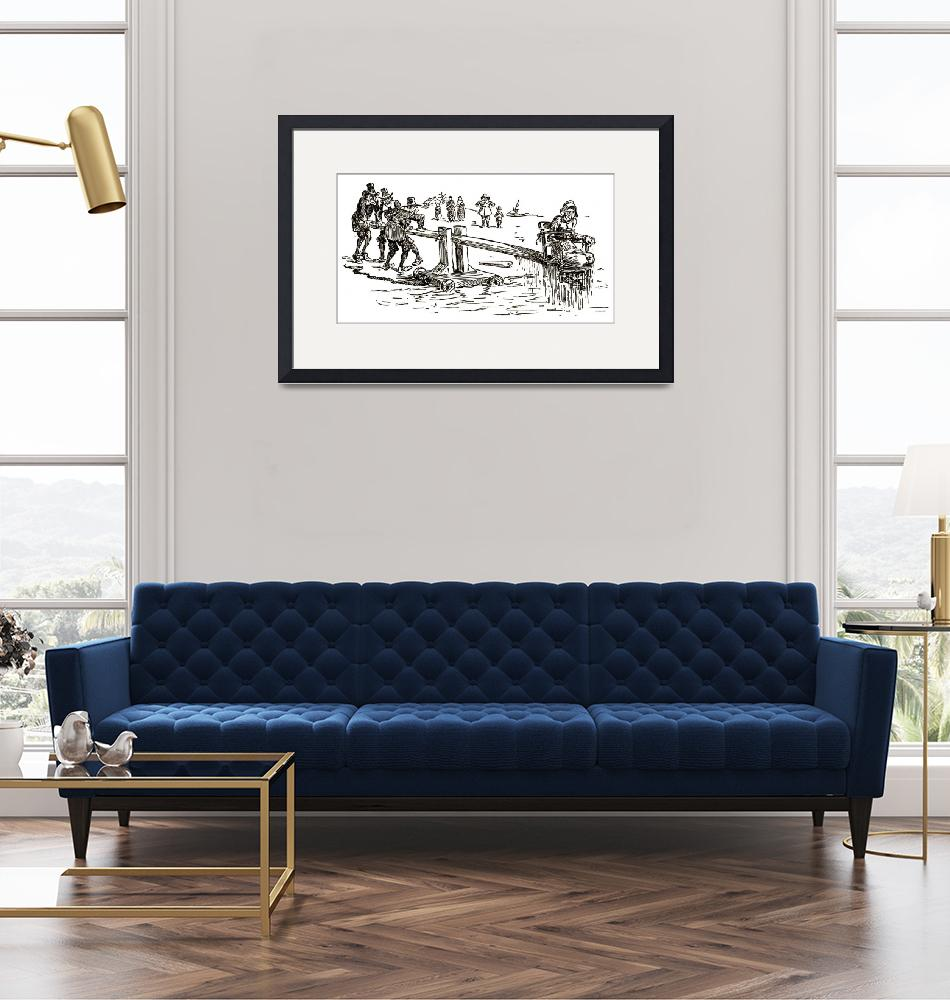 """""""Ducking Chair 1894 Illustration""""  (2014) by WilshireImages"""