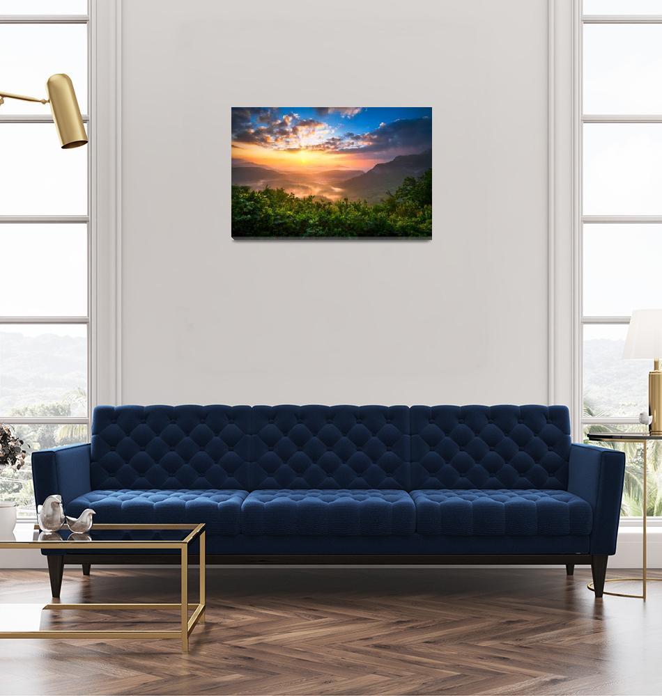 """""""Highlands Sunrise - Whitesides Mountain Landscape""""  (2011) by DAPhoto"""