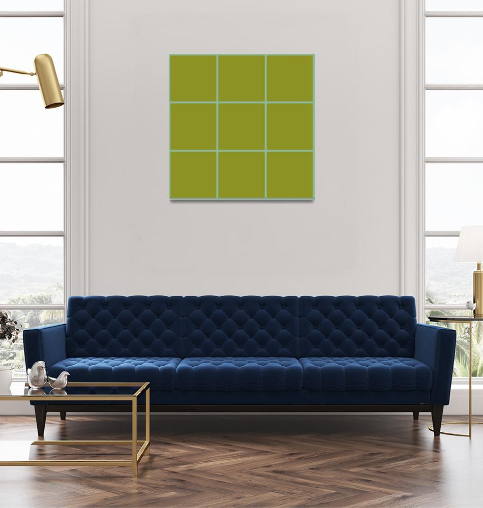 """Green Window 112 Canvas Contemporary Modern""  (2010) by Ricardos"
