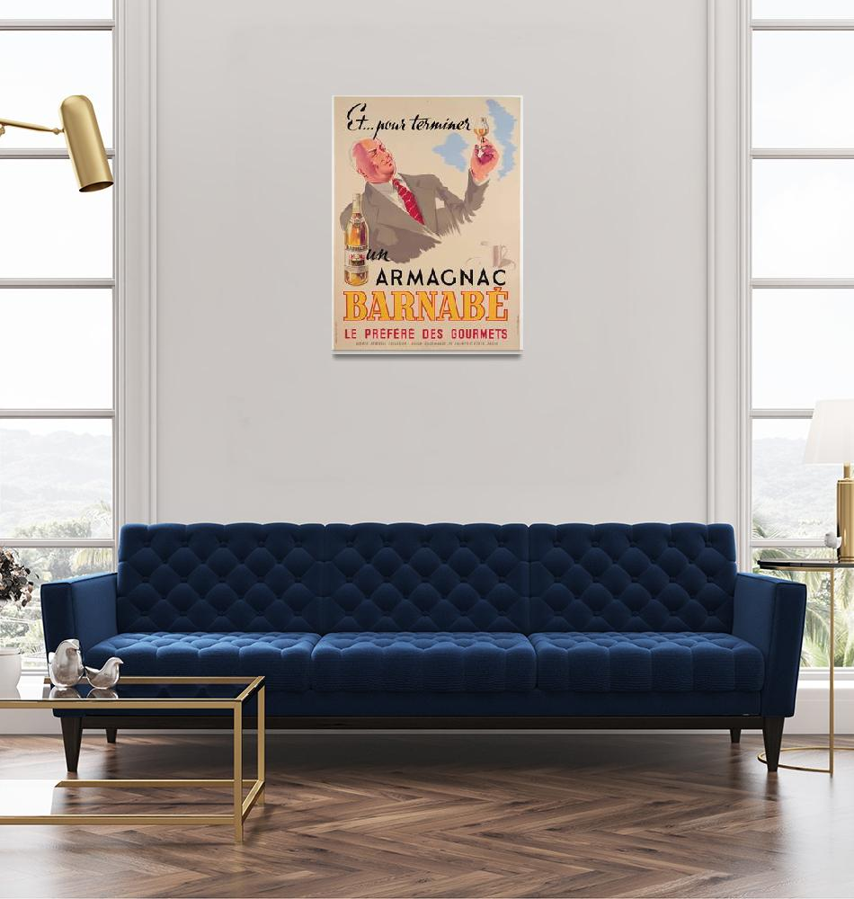 """""""Poster advertising Armagnac Barnabe, printed by Da""""  by fineartmasters"""