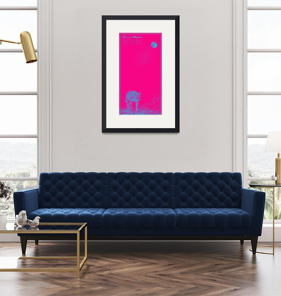 """""""Africa Travel Poster in pink""""  by motionage"""