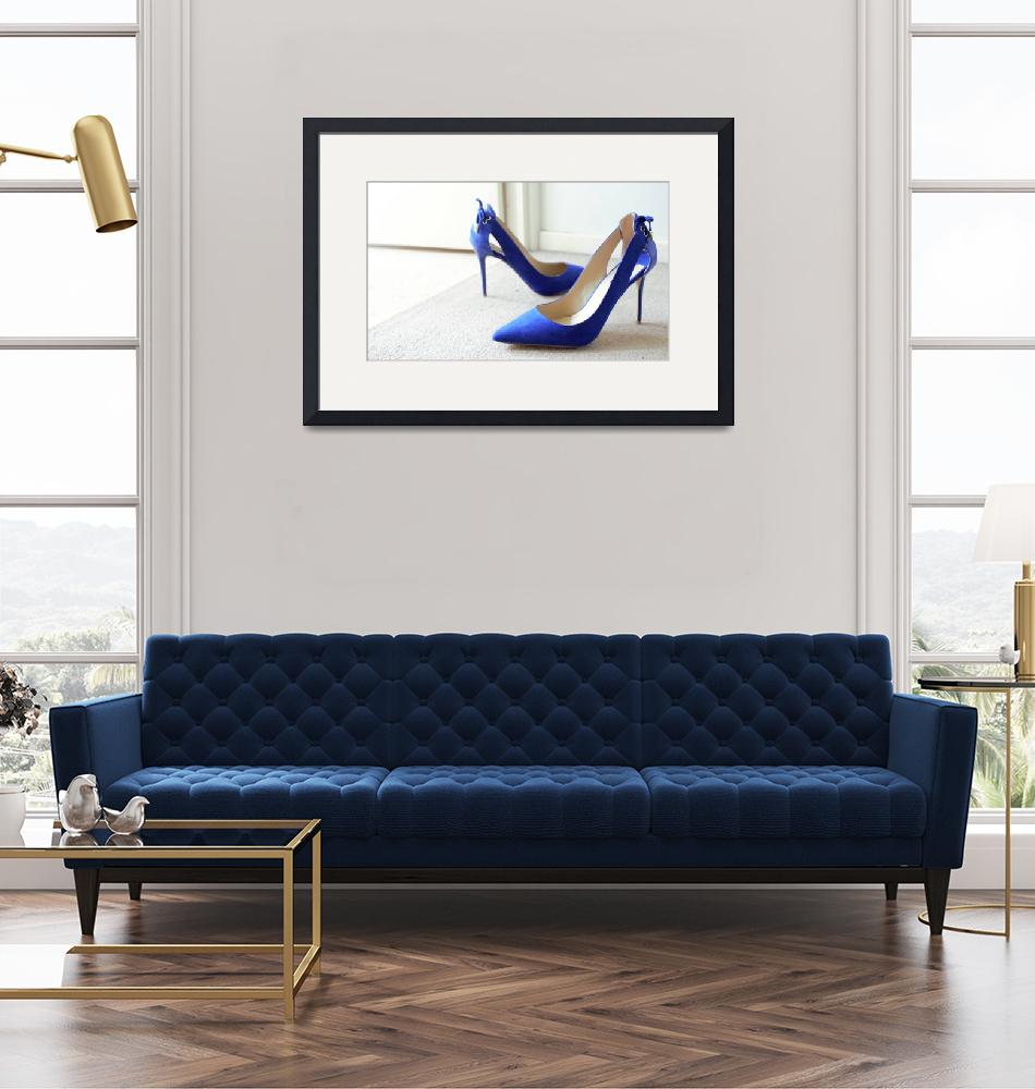 """""""Blue suede shoes stilettos """"Something Blue""""""""  (2017) by Bluejay36"""