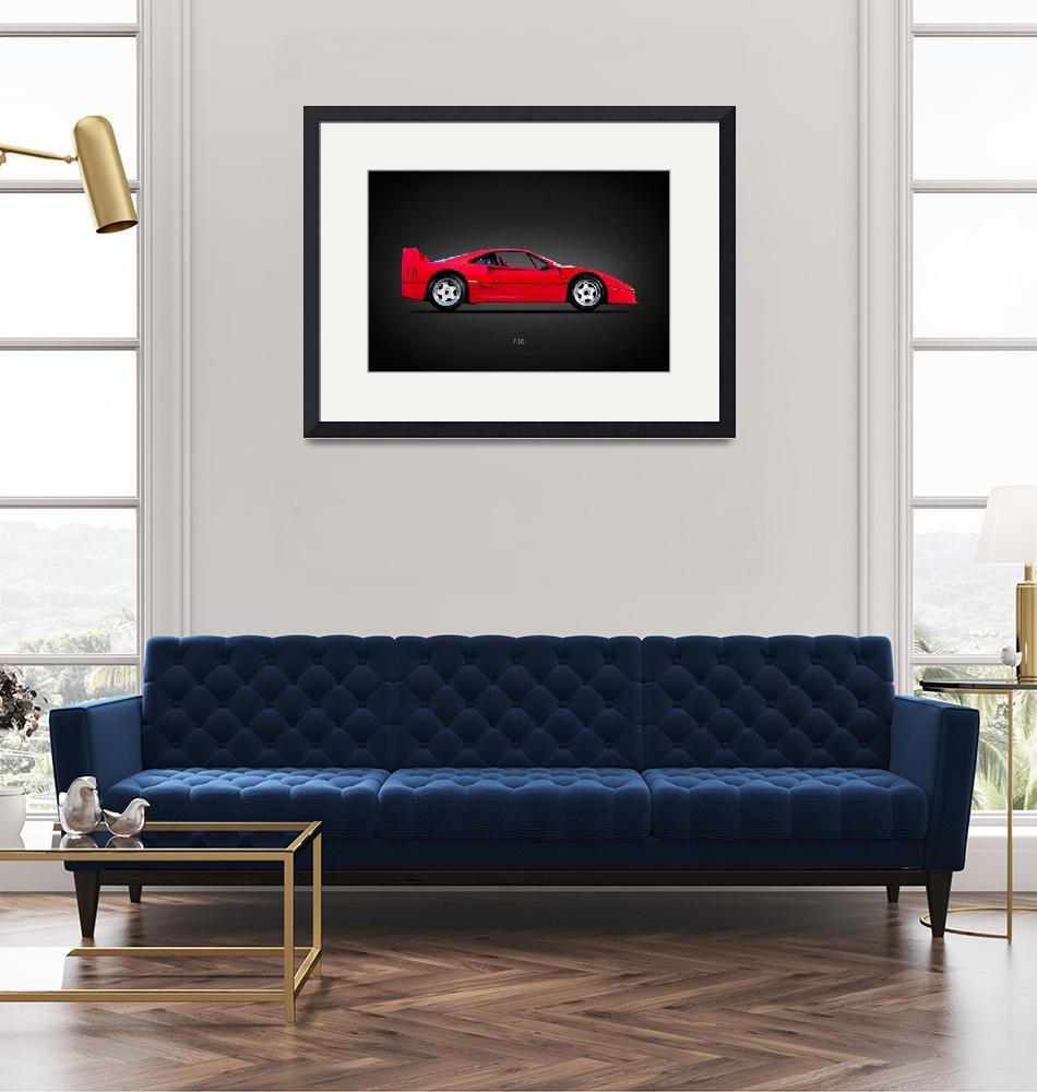 """The Ferrari F40""  by mark-rogan"