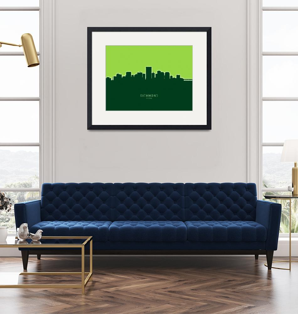"""Richmond Virginia Skyline"" (2020) by ModernArtPrints"