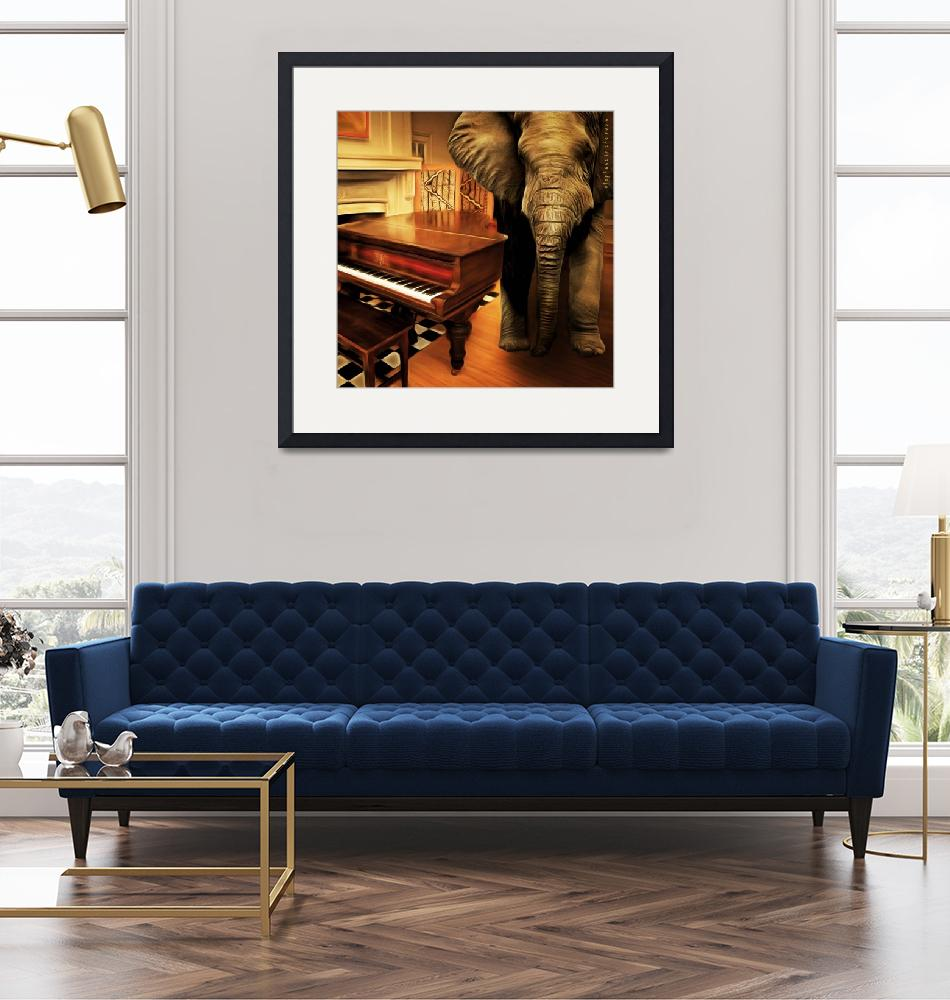 """""""Elephant In The Room 20141225 square""""  by wingsdomain"""