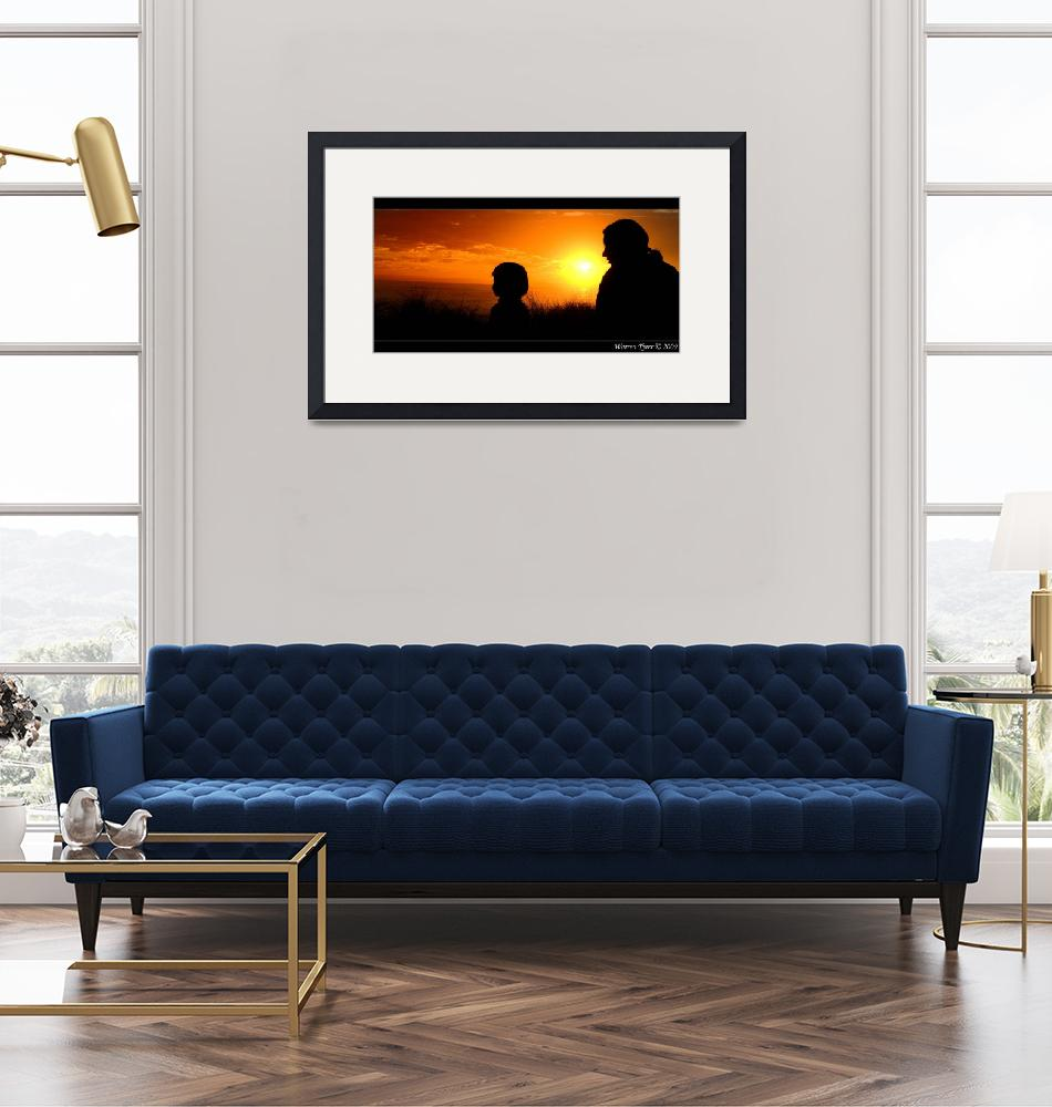 """""""Mother-&-Son-silhouette.jpg""""  (2009) by WarrenT"""