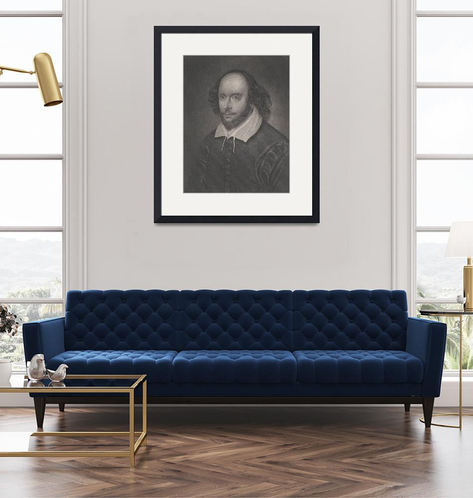 """Vintage Portrait of William Shakespeare (1800s)""  by Alleycatshirts"