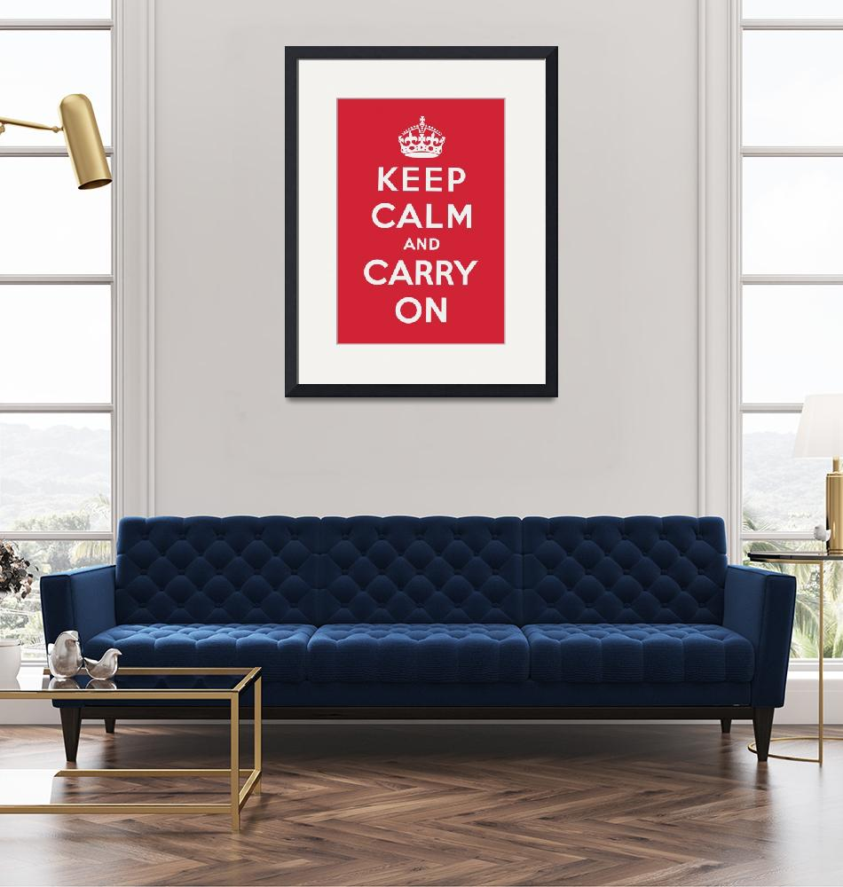 """""""Red Keep Calm And Carry On""""  by oldies"""