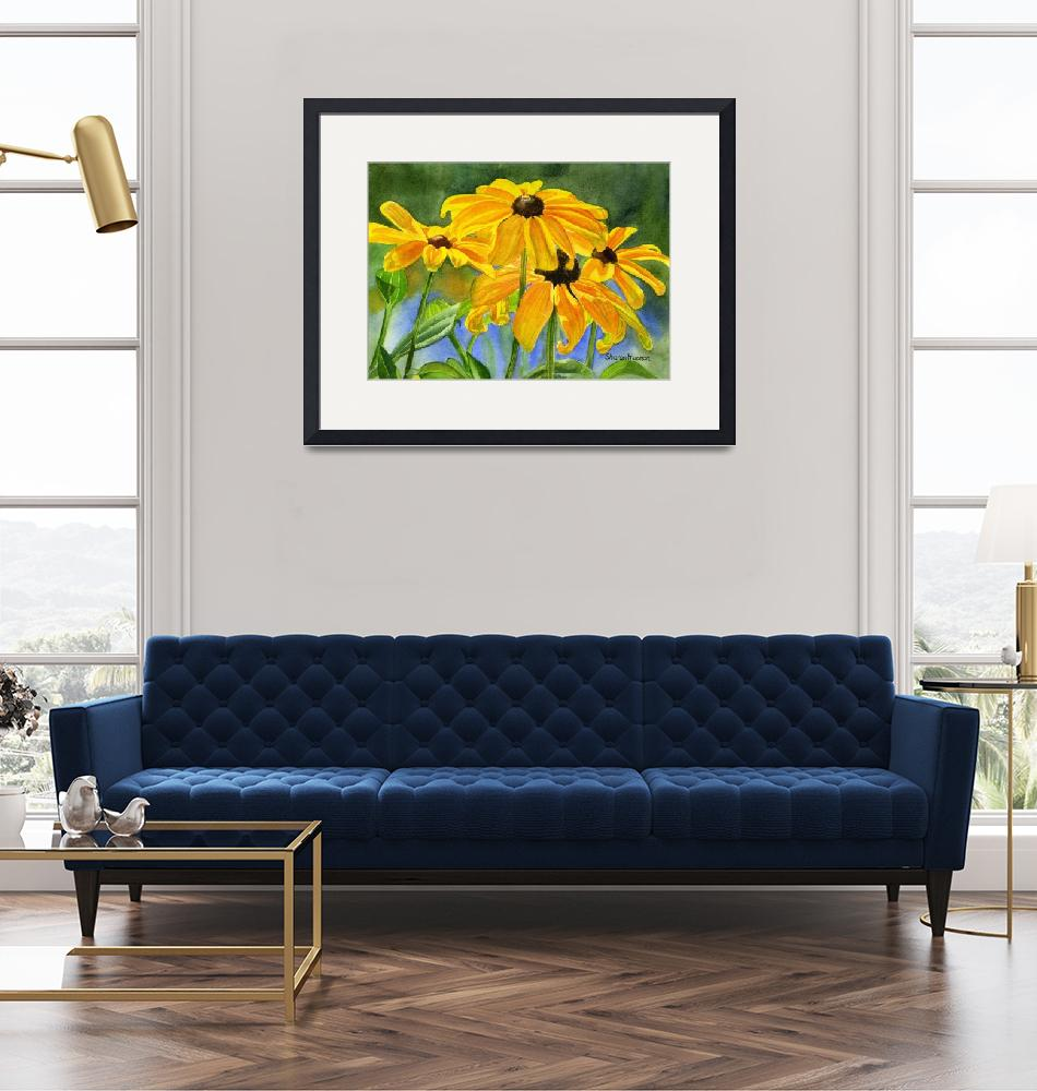 """Black Eyed Susans""  (2009) by Pacific-NW-Watercolors"