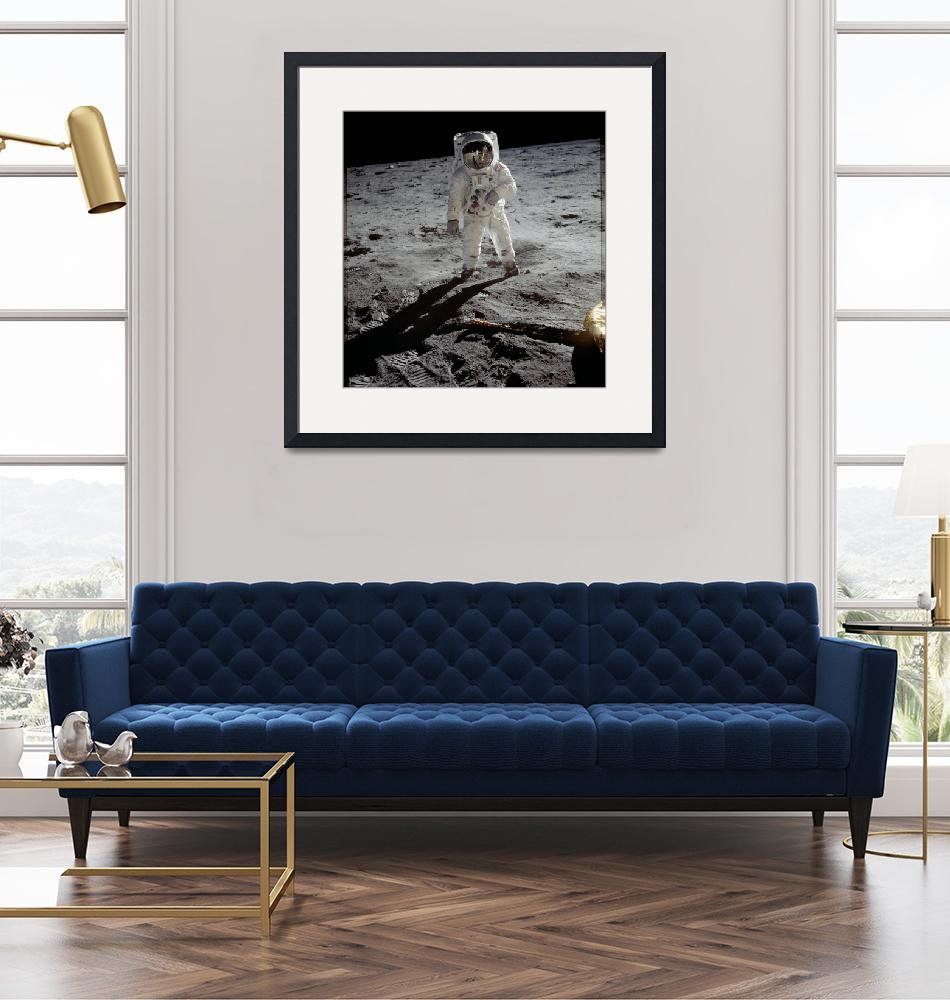 """""""Buzz Aldrin on the Moon""""  by postpainting"""