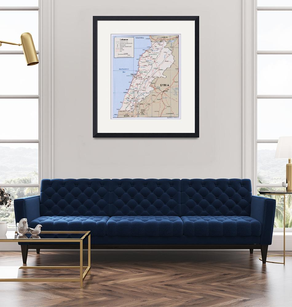 """""""Map of Lebanon (2002)""""  by Alleycatshirts"""