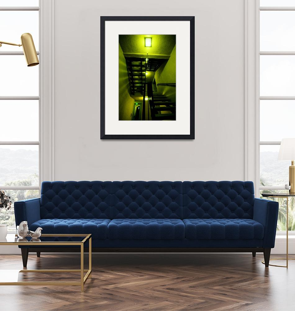 """""""Five Lights and Some Stairs""""  (2008) by brianauer"""
