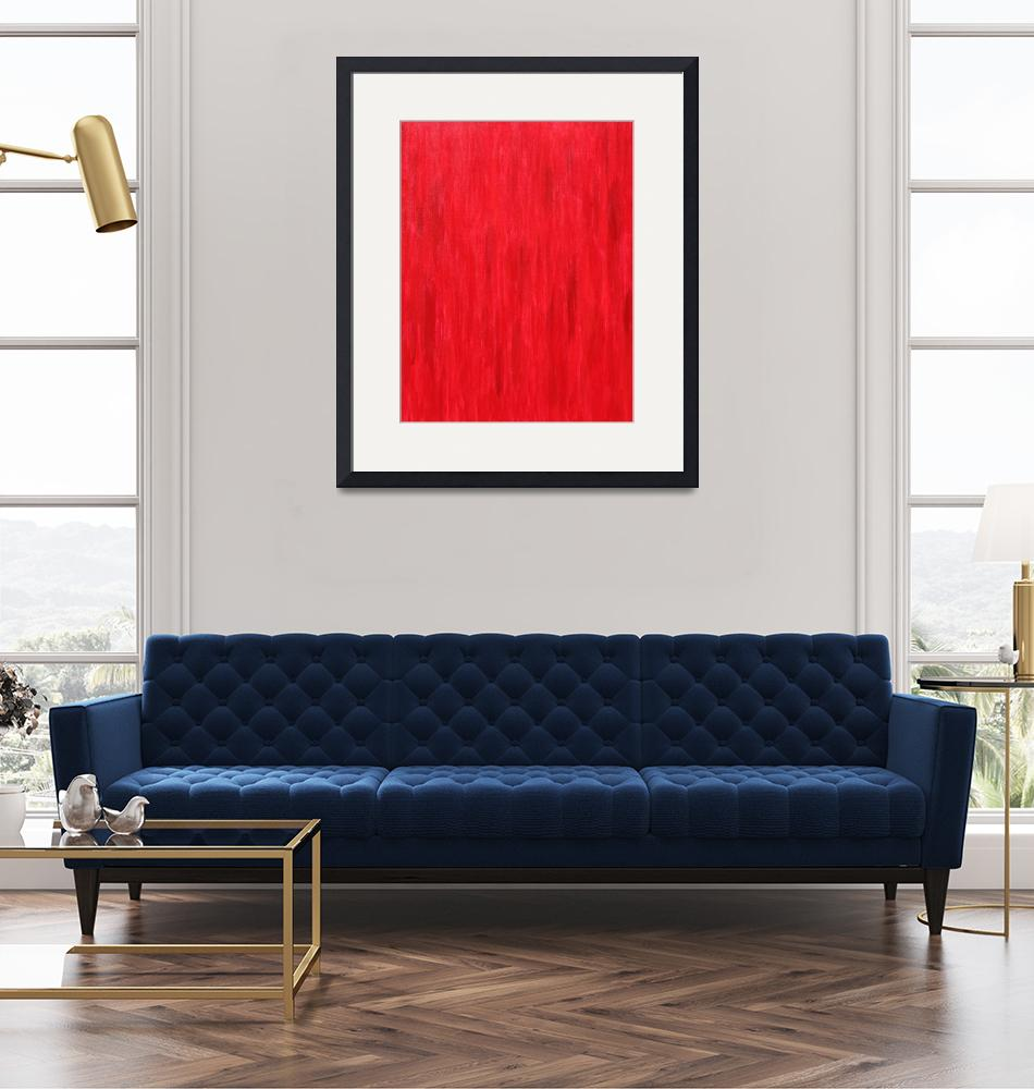 """""""RED Primary No 19""""  (2009) by artbynj"""