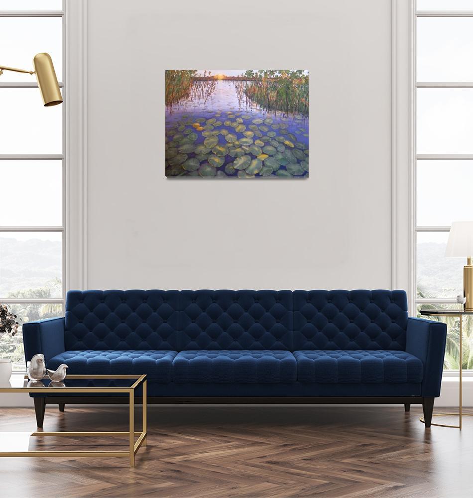 """""""Waterlillies, SA""""  by KarenZukRosenblatt"""