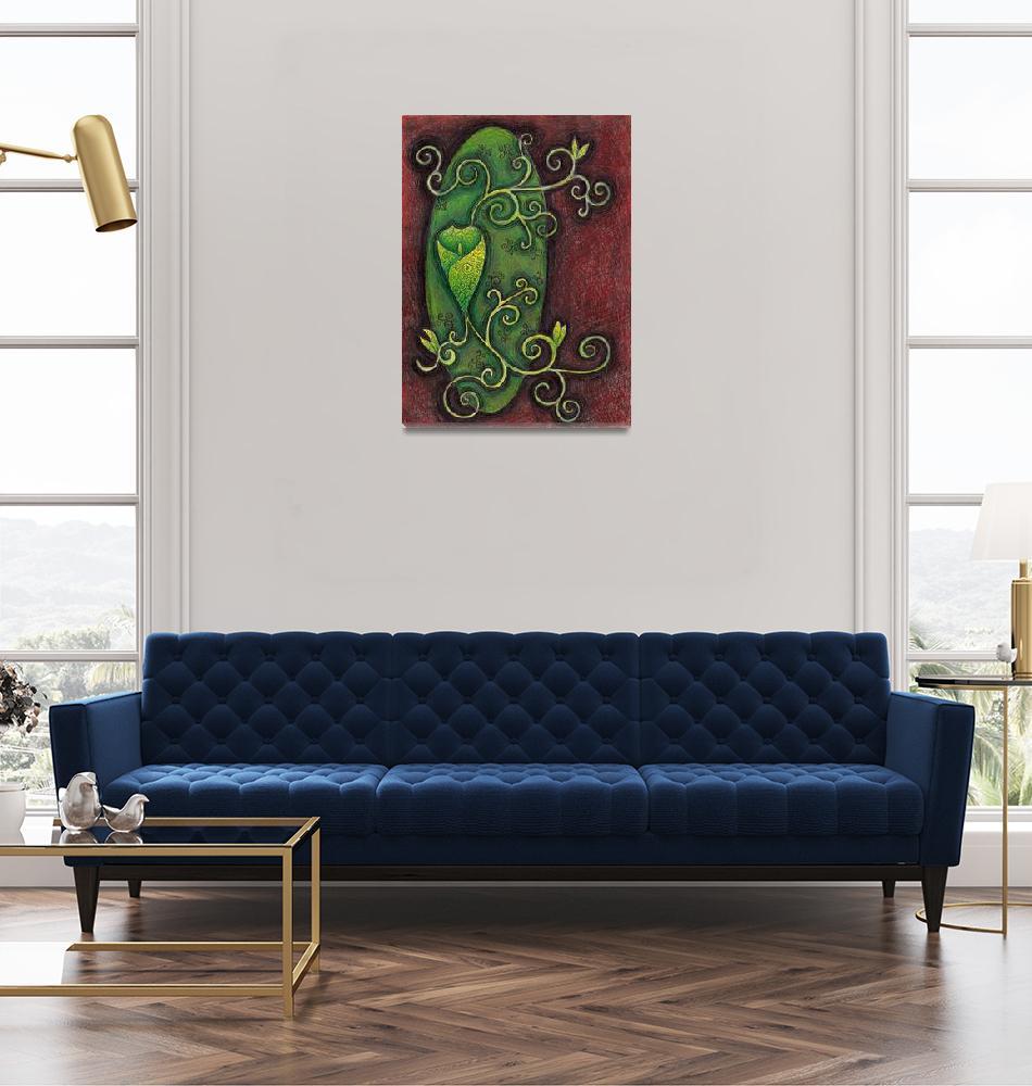 """""""green flower""""  (2008) by emmajeffery1985"""