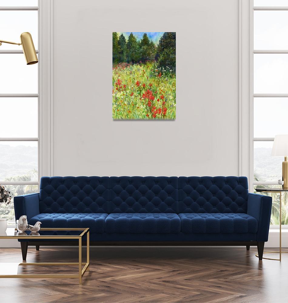 """""""Blooming Field""""  (2019) by HaileyWatermedia"""