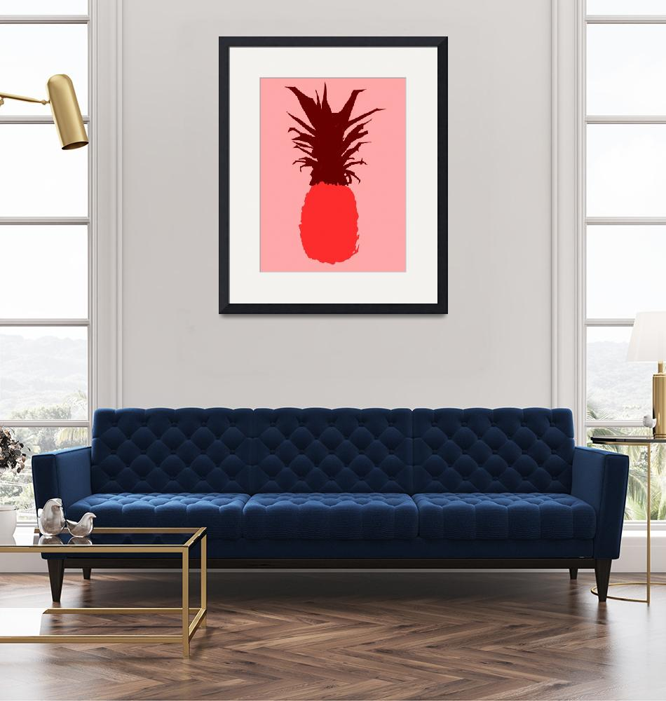 """Pineapple red pink (c)""  (2014) by edmarion"