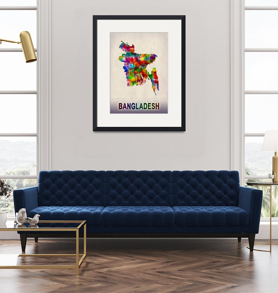 """""""Bangladesh Map""""  by Towseef"""